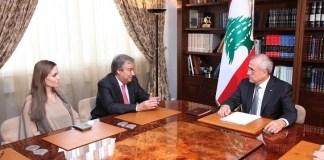 Анджелина Джоли с президентом Ливана