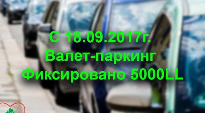 С сегодняшнего дня Валет-паркинг 5000LL.
