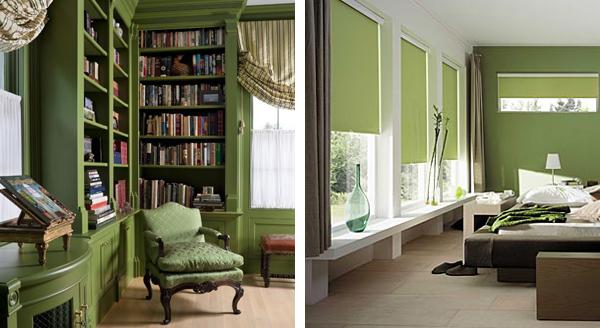 Зеленый цвет в интерьере, выбираем правильные оттенки ...