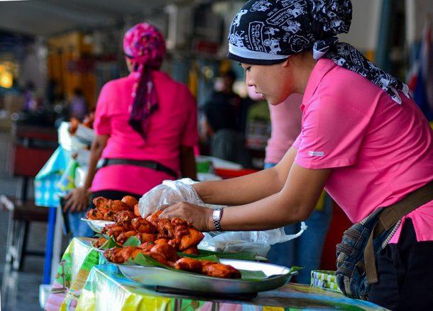 Hat Yai Fried Chicken, Bangkok to Malaysia by Train Padang Besar Penang Butterworth