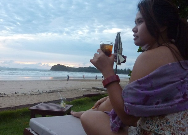 Cocktails, Lanta Klong Dao Beach, Low season in Krabi Thailand, Southeast Asia