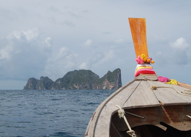 Long Tail Boat to the Beach, Low season in Krabi Thailand, southeast asia