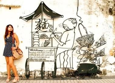 Wall Art in Georgetown, Best Thai VISA Run to Penang Malaysia