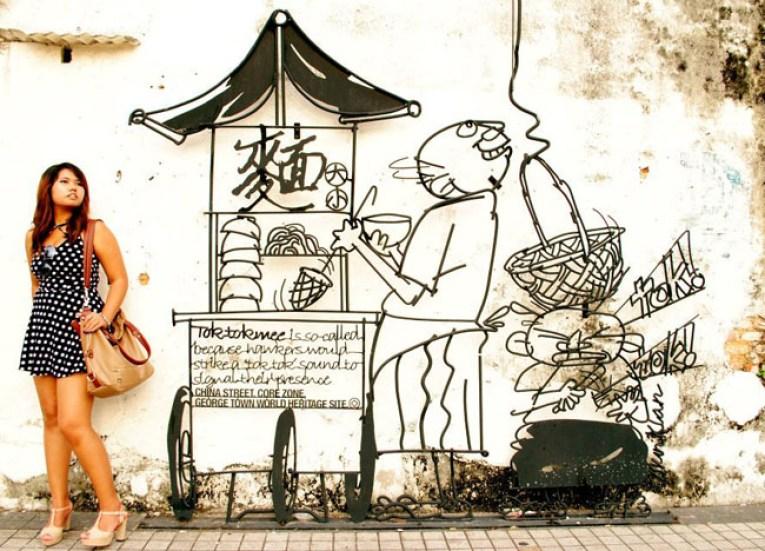 Wall Art Georgetown Penang Singapore to Bangkok Overland Island Hopping