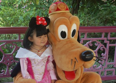 Goofy at Disneyland, Hong Kong by Train Travel, MTR Top Attractions, Asia