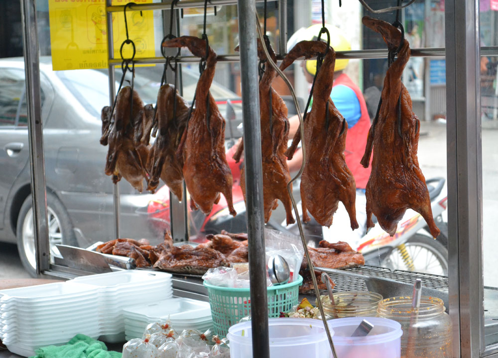 Phed Yang Roast Duck, Lopburi Monkey Town in Thailand, Southeast Asia
