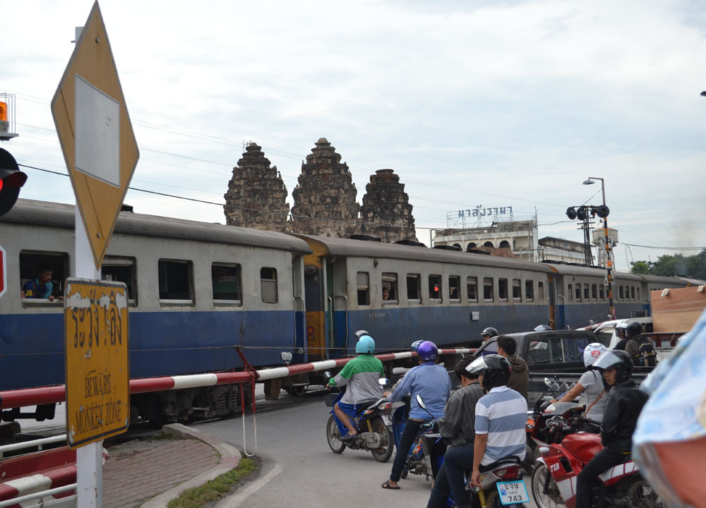 Train Through Lopburi, Lopburi Monkey Town in Thailand, Southeast Asia