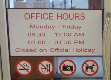Office Opening Hours for VISA renewal in bangkok immigration office