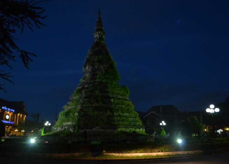 That Dam Black Stupa, Vientiane Riverside Night Market Area, Saturday Night