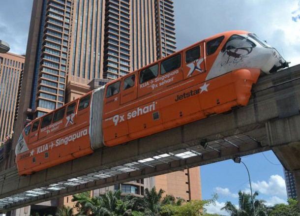 Best Areas to Stay in Kuala Lumpur for Tourists, KL Monorail Car