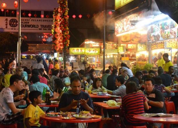 Best Tourist Areas in Kuala Lumpur, Jalan Alor Food Street