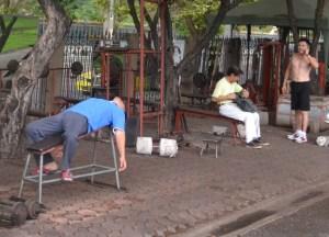 Free Weights, Chatuchak Park Bangkok, Park Life in Southeast Asia