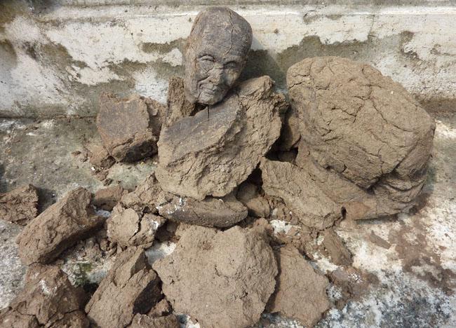 Mud Monk Statue at Wat Tri Thotsathep Worawihan, Bangkok Southeast Asia