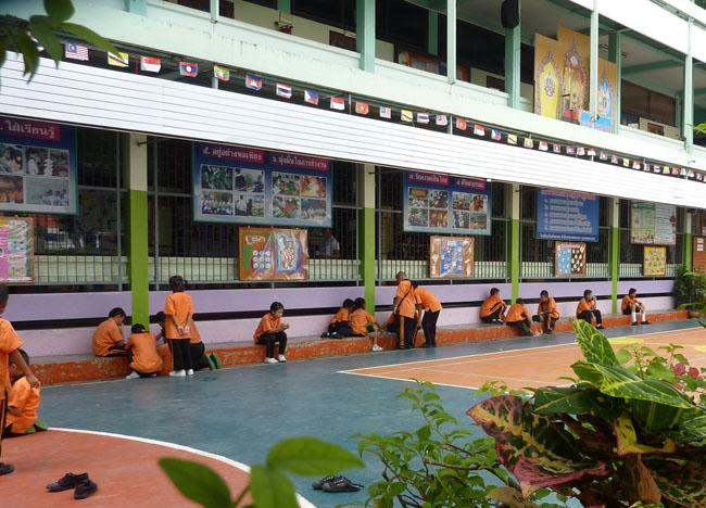 Temple School at Wat Tri Thotsathep Worawihan, Bangkok Southeast Asia
