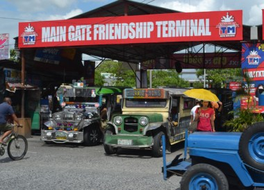Main Gate Jeepney Terminal on Stopover at Clark Airport, Southeast Asia