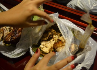 Street Food Pork Chicken on Stopover at Clark Airport, Southeast Asia