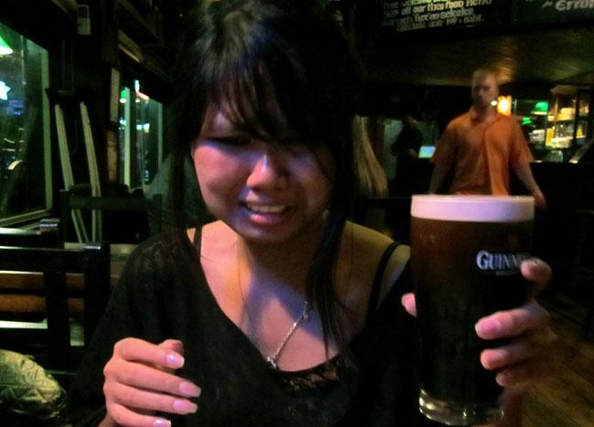 Guinness Pint, The Dubliner Irish Bar in Bangkok Sukhumvit