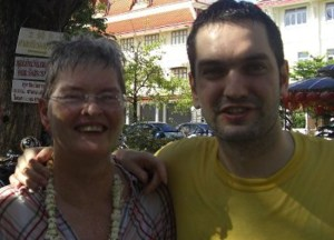 Travelling with Mum - Extreme Adventures with Mum - Soaked at Songkran