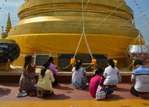 Golden Mount Temple, New Years Day in Bangkok, Southeast Asia
