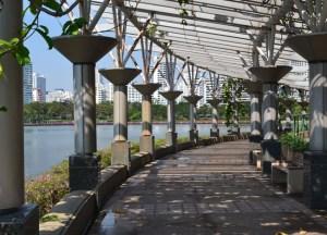 Walking Path, Benjakiti Park Bangkok, Park Life in Southeast Asia