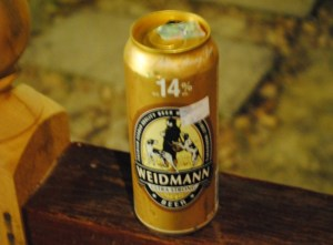 Weidmann Extra Strong. Super Strong Beer in Malaysia, Southeast Asia