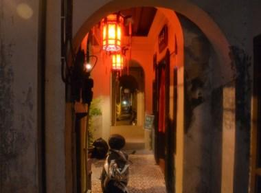 Unesco Muntri Street at Night in Georgetown, Penang, Southeast Asia