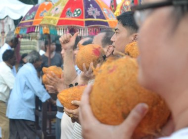 Coconuts Ready, Third Day of Thaipusam in Penang, Southeast Asia