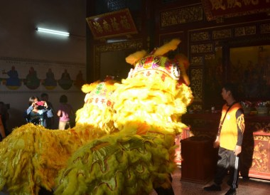 Chinese Dragons, Quiet Thaipusam in Georgetown Penang Southeast Asia