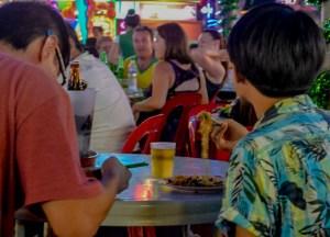 People Watching, Red Garden Food Paradise, Penang Georgetown