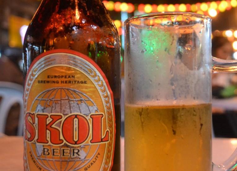 Big Skol Beer, Jalan Alor Food Street, Kuala Lumpur Southeast Asia