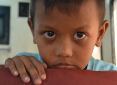 Kid on Satun Boat, Singapore to Bangkok Overland Island Hopping