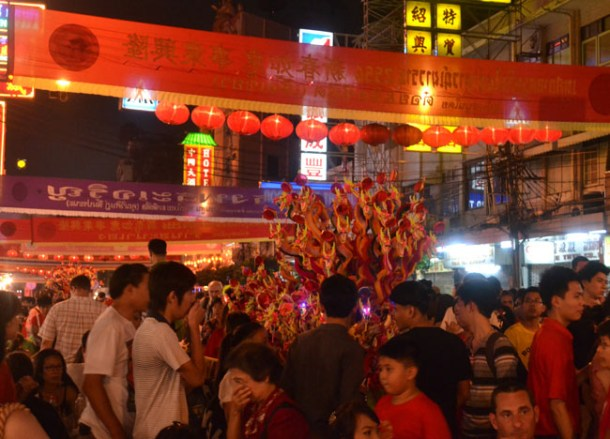 Yaowarat Night Time, Chinese New Year in Bangkok Chinatown, Yaowarat
