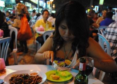 Drinking Wine, Jalan Alor Food Street, Kuala Lumpur Southeast Asia