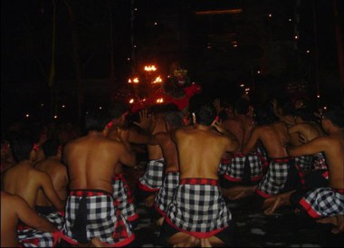 Locals perform Kecak Monkey Dance, Ubud Bali, Indonesia Southeast Asia