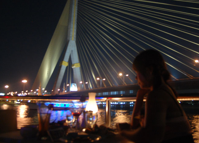 Rama 8 Bridge Bangkok Dinner Cruise Romantic Valentines Southeast Asia