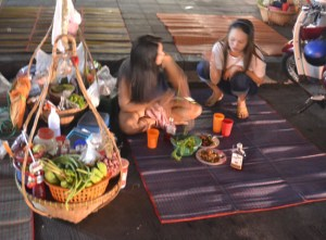 Roadside Street Food, Chinese New Year in Bangkok Chinatown