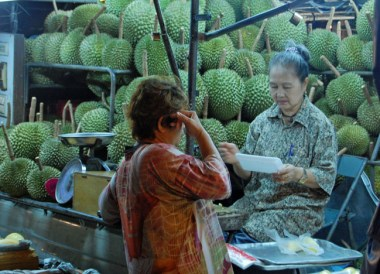 Durian in Chinatown, Top Bangkok Street Food, Thailand Cheap Eats