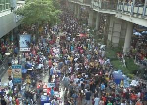 Bangkok Crowds Songkran on Khao San Road, Thai New Year Southeast Asia