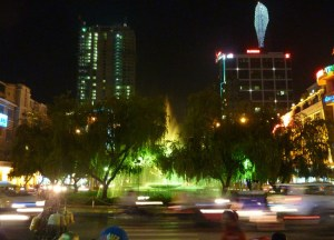 Night City Scene, Ho Chi Minh City Centre Saigon, Southeast Asia