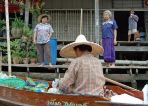 River Locals, Damnoen Saduak Floating Market Bangkok Southeast Asia