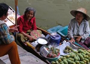 River Gossip, Damnoen Saduak Floating Market Bangkok Southeast Asia