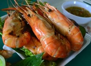 Grilled Prawns, Taling Chan Floating Market Bangkok, Southeast Asia