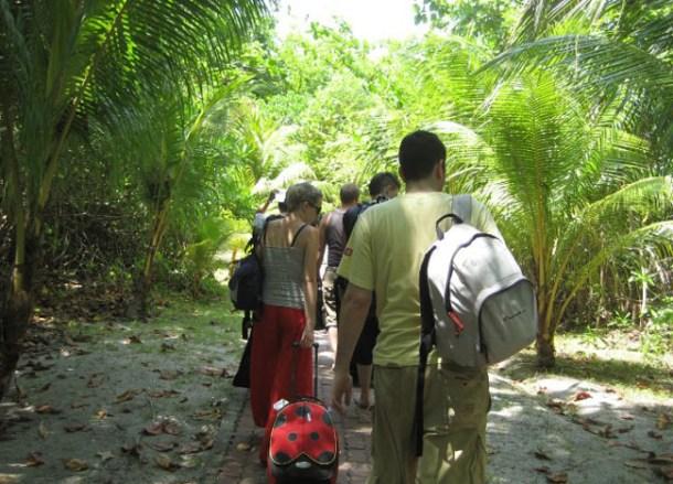 Arriving at Selingan Turtle island, Borneo Eco-Tourism Sabah Malaysia