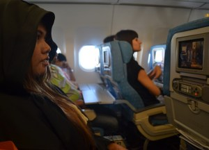 Hoody Heaphones, Survival Guide to Long Haul Flights, Flying to Asia