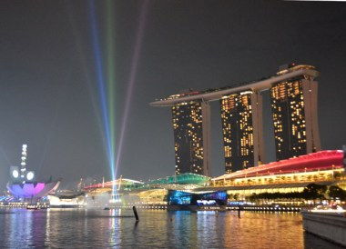 Light show, Marina Bay Area, Where to Stay in Singapore on a Budget