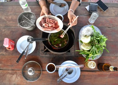 Thai Hot Pot, Thai Isaan Food, Eating in Northeastern Thailand