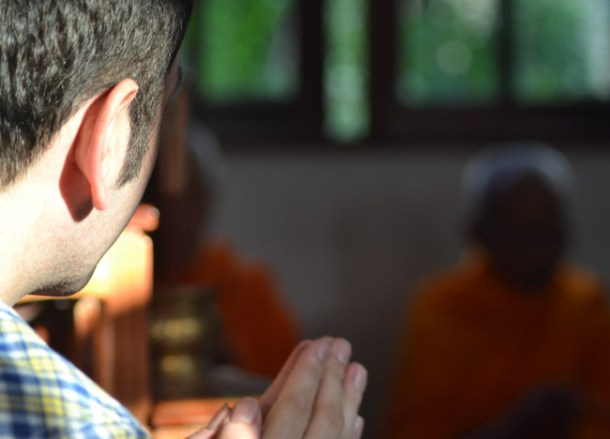 Allan Wilson, Buddhist Monk Blessing Ceremony for Health Thailand Asia