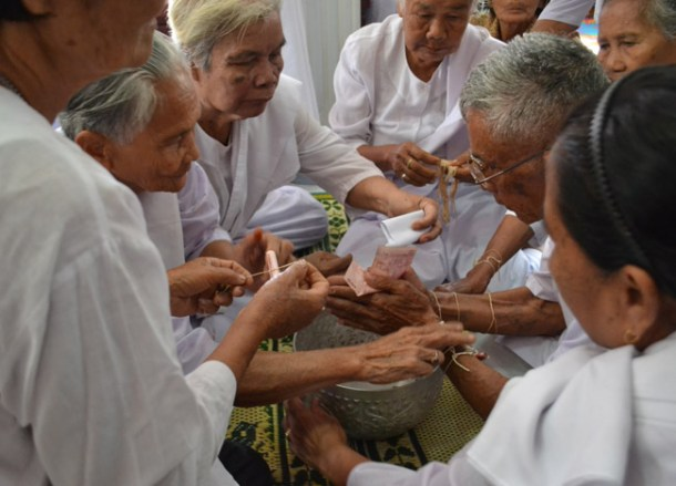 Sai Sin Bracelets, Buddhist Monk Blessing Ceremony for Health Thailand