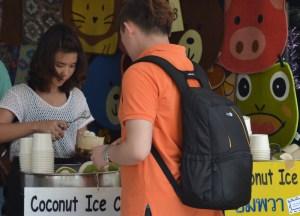 Ice Cream, Eating at JJ Market Bangkok, Chatuchak Weekend Shopping
