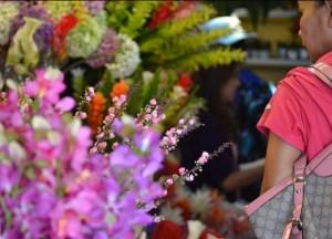 Flowers, Eating at JJ Market Bangkok, Chatuchak Weekend Shopping, Asia